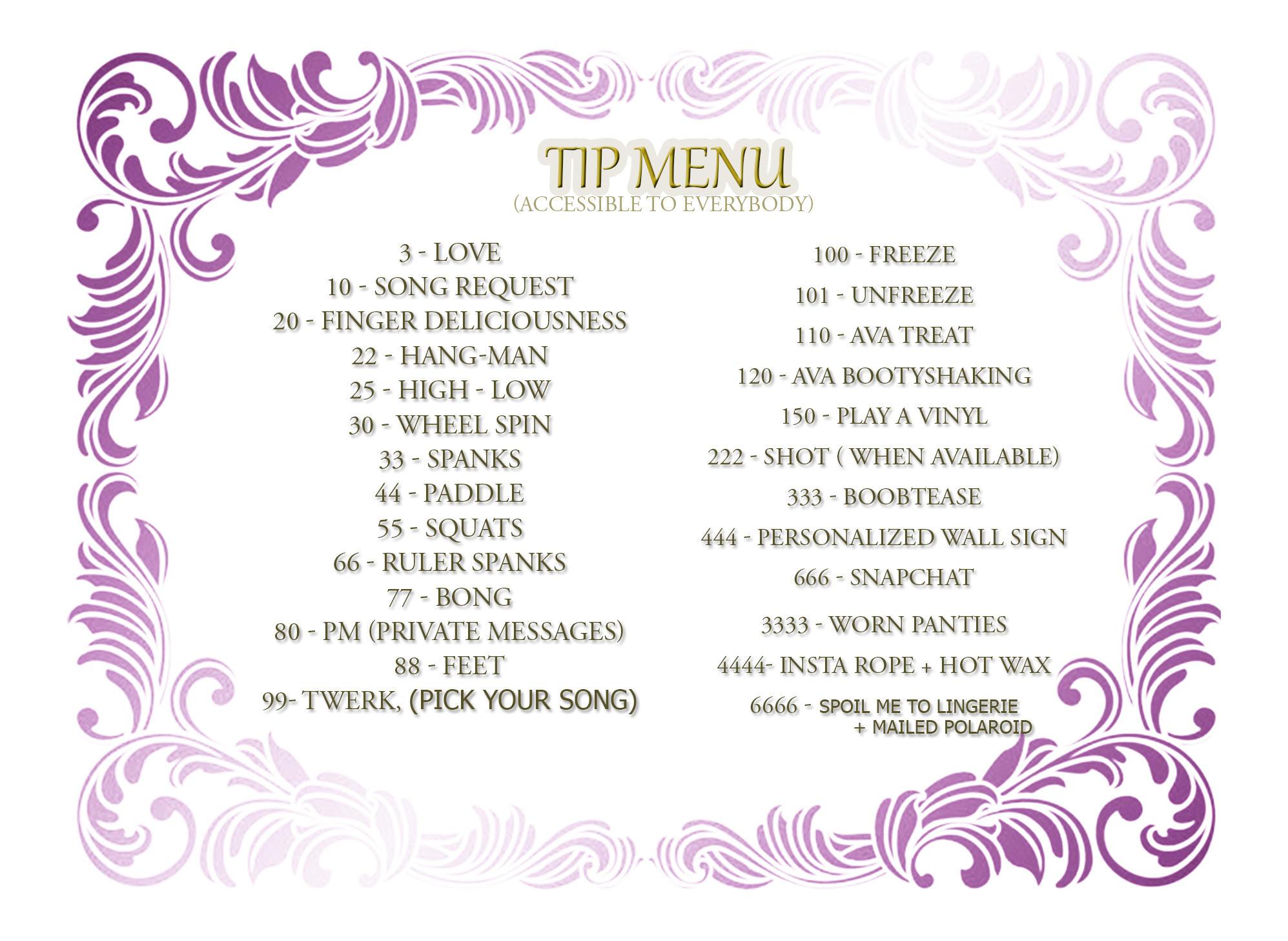 DearLilou Tip menu