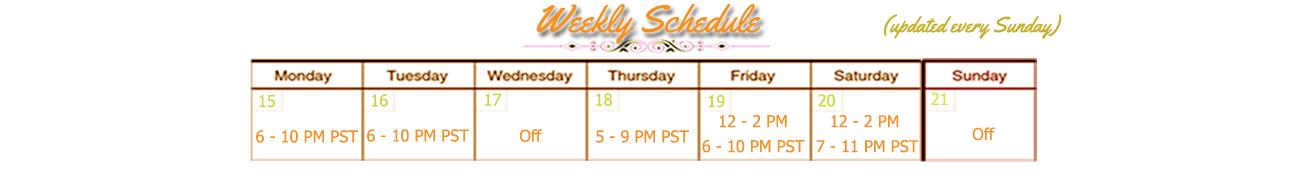 DearLilou Schedule