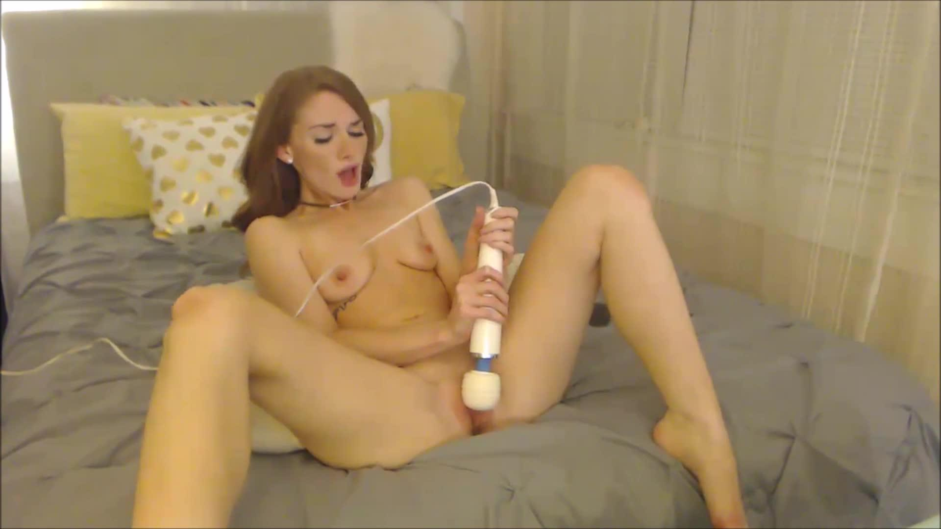 8 inches cock hitachi cock massage with condom cum filling 7
