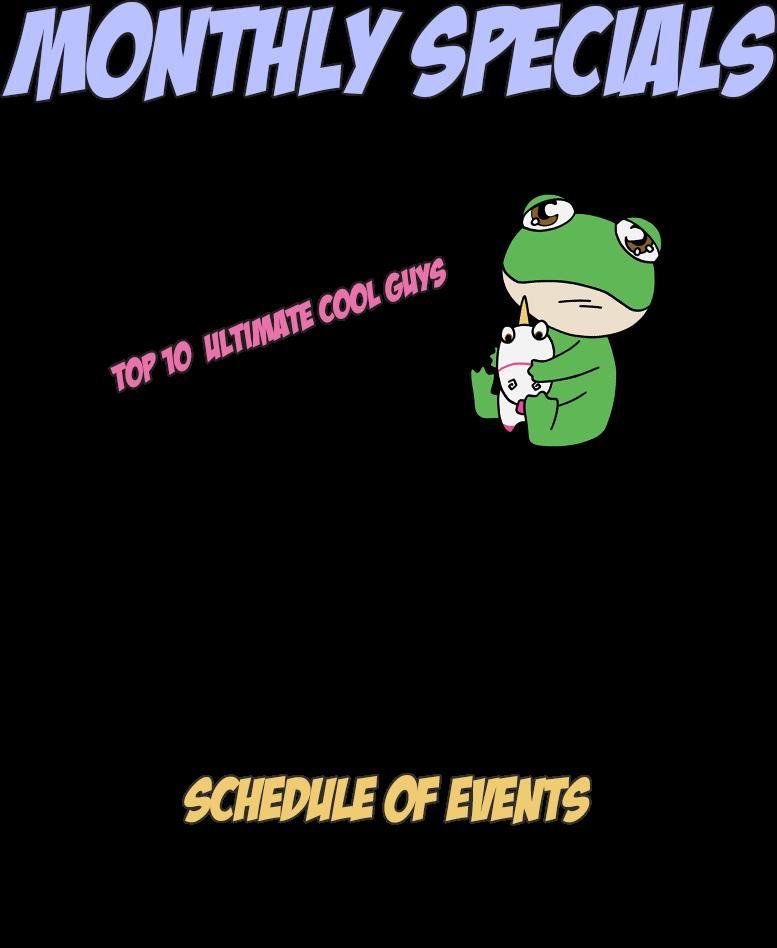 monthly specials calendar