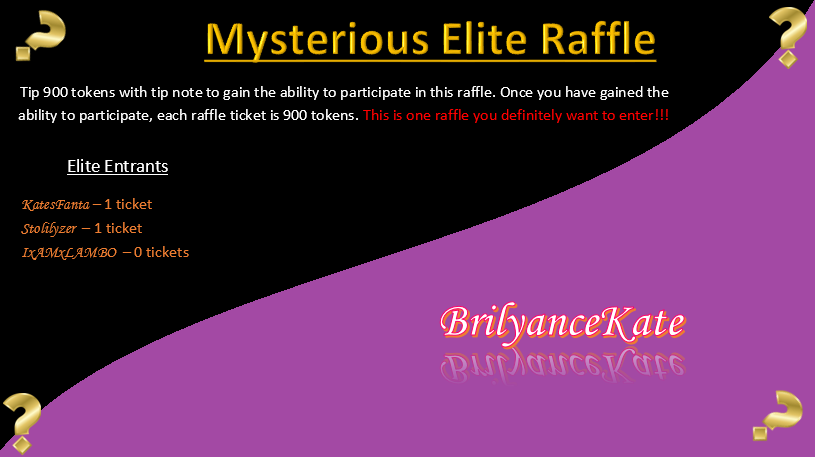 Mysterious Elite Raffle