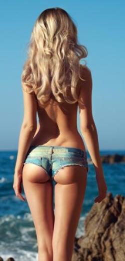 блондинка стройная ролик