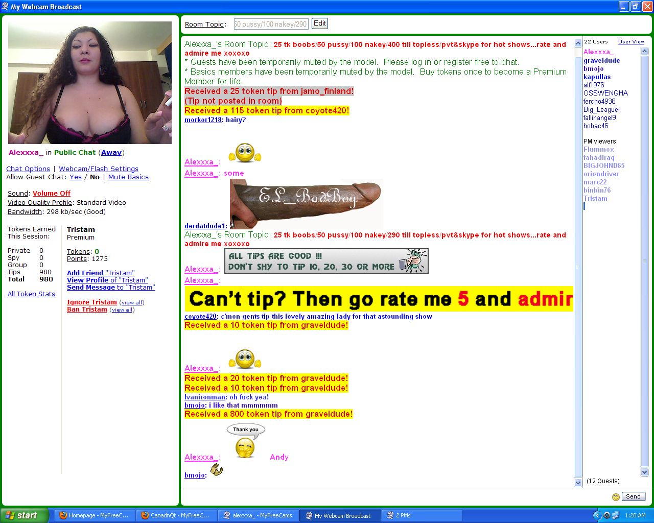 myfreecams rules