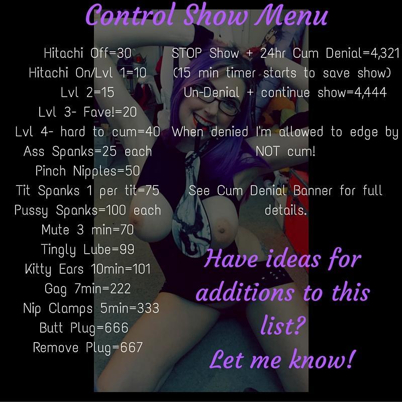 Control Show Menu