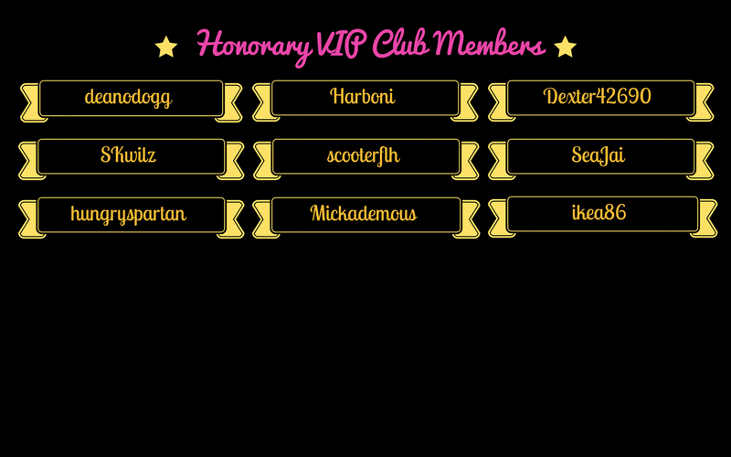 Honorary VIP Club Members