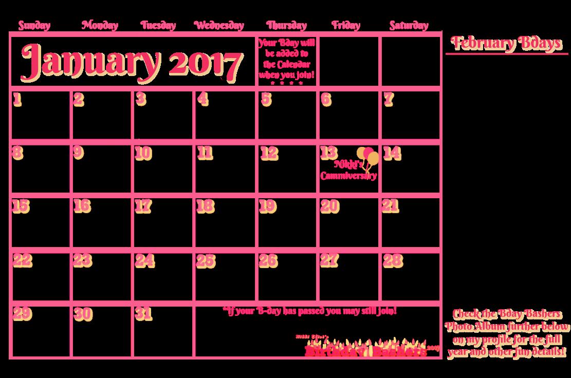 Nik Bday Club Calendar